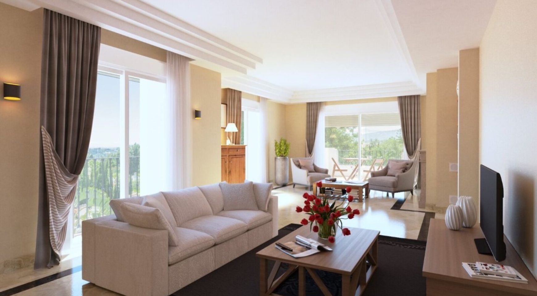 Elegant Style Apartments With Amazing Views To The Mediterranean Sea Marbella Spain